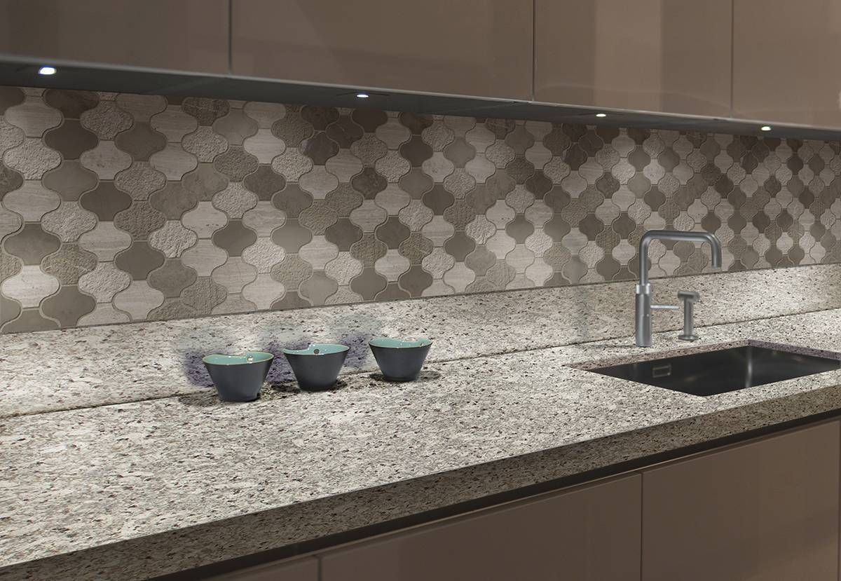Arctic Storm Arabesque Multi Finish | Arabesque tile ...