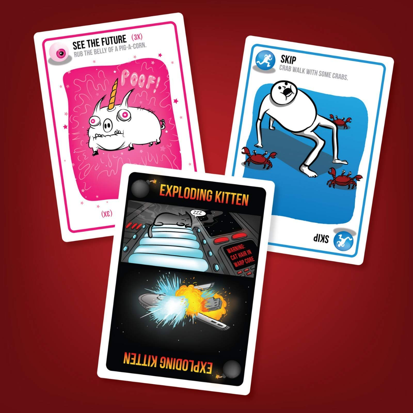 Exploding Kittens Card Game Family Friendly Party Games Card
