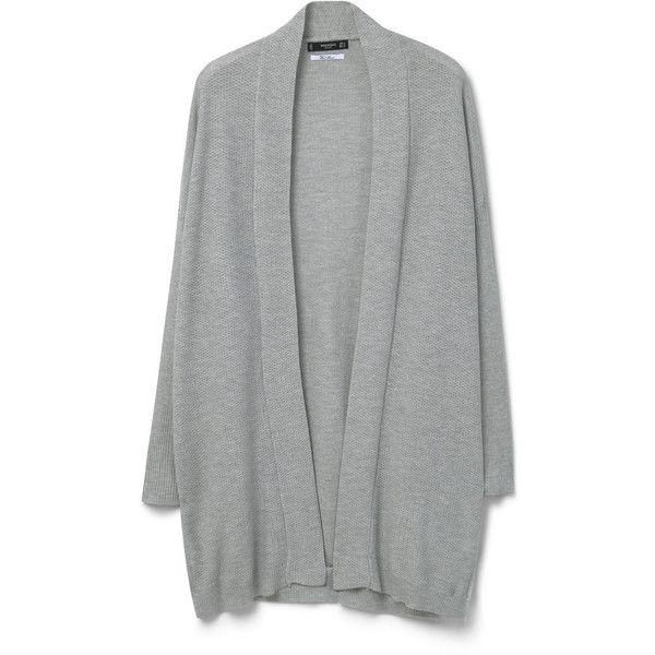 MANGO Chunky-Knit Wool-Blend Cardigan (160 NOK) ❤ liked on Polyvore featuring tops, cardigans, jackets, outerwear, mango tops, long sleeve cardigan, mango cardigan, long sleeve tops and chunky knit cardigan