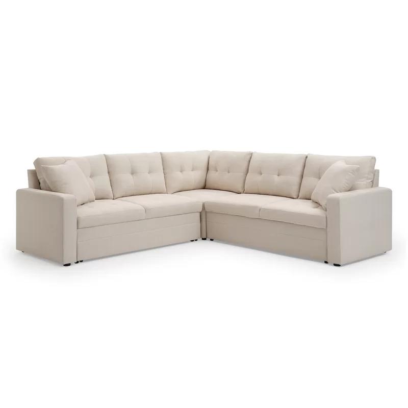 Waverly Hall Symmetrical Sleeper Sectional Joss Main In 2020 Sectional Sleeper Sectional Sectional Sleeper Sofa