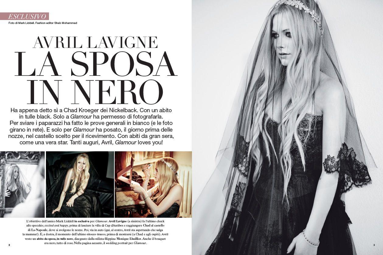 Avril Lavigne Matrimonio In Nero : Avril lavigne sposa in nero per glamour avril lavigne glamour