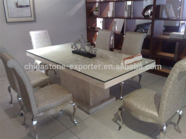 Dining Tables Marble Cladding And Glass Google Search