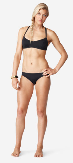 Beach Fever swimsuit #ROXYOutdoorFitness,  nice to see an athletic body instead of anorexic.  Makes me feel better about having a natural athletes body, as much as I would love to have curves.