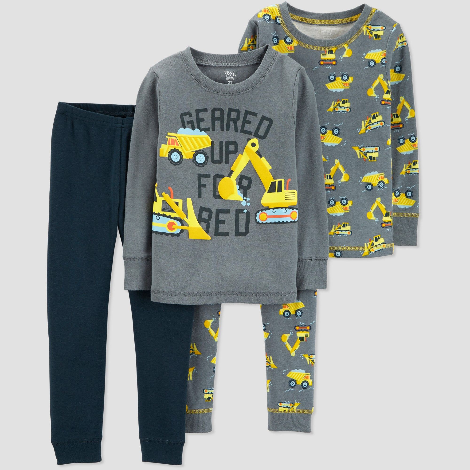 1c4328eca Toddler Boys' 4pc Construction Pajama Set - Just One You made by carter's  Gray 3T
