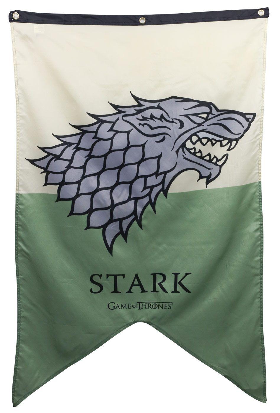 Stark House Banner Game Of Thrones Flags Banners Game Of Thrones Party Game Of Thrones Flags House Stark Banner