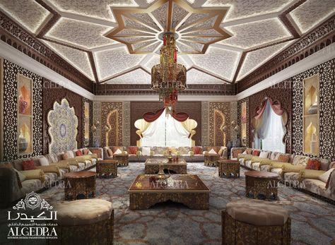 Moroccan Majlis Design Men And Women Majlis Interior Design Algedra Ae Arabic Decor Arabian Decor Moroccan Design