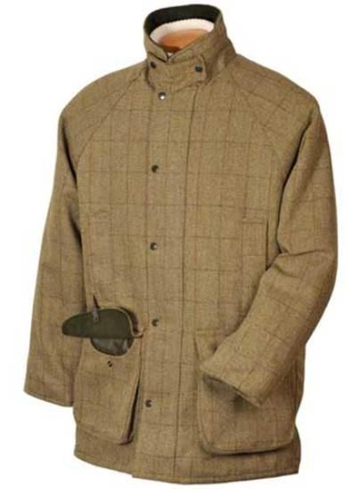 9facc77d5 Hunter Outdoor Shooting Tweed Jacket - Dark Green QUILTED LINING ...