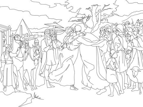 Joseph Meet Jacob Coloring page Joseph and his Brothers - copy coloring pages of joseph and the angel