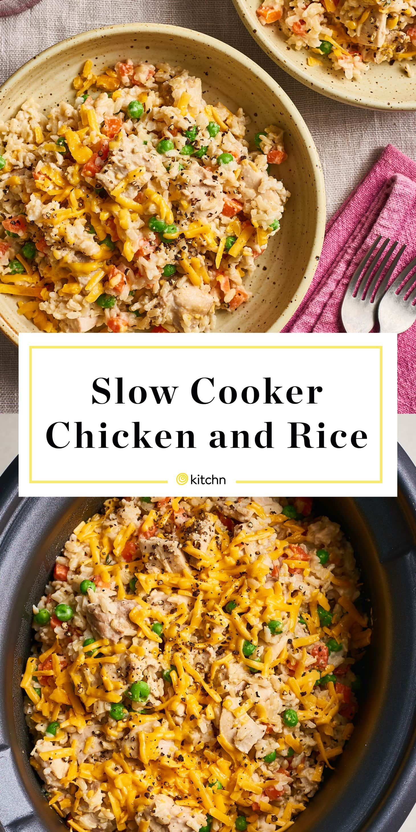 Photo of Recipe: The Best Creamy, Cheesy Slow Cooker Chicken and Rice