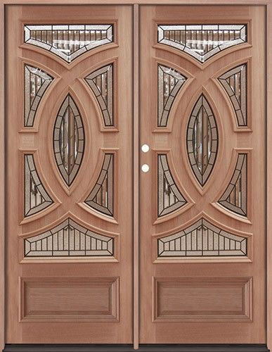 80 Tall Baseball Mahogany Prehung Double Wood Front Entry Doors