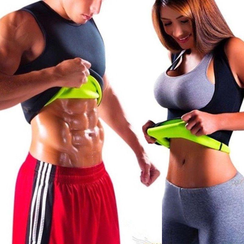 94a0c71ddb12f Men s Neoprene Vest Cami Hot Shapers Gym Women Sauna Sweat Thermal Belt  Girdle