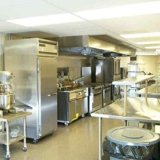 Small Commercial Kitchen Layout Stainless Steel Tiles Would Look
