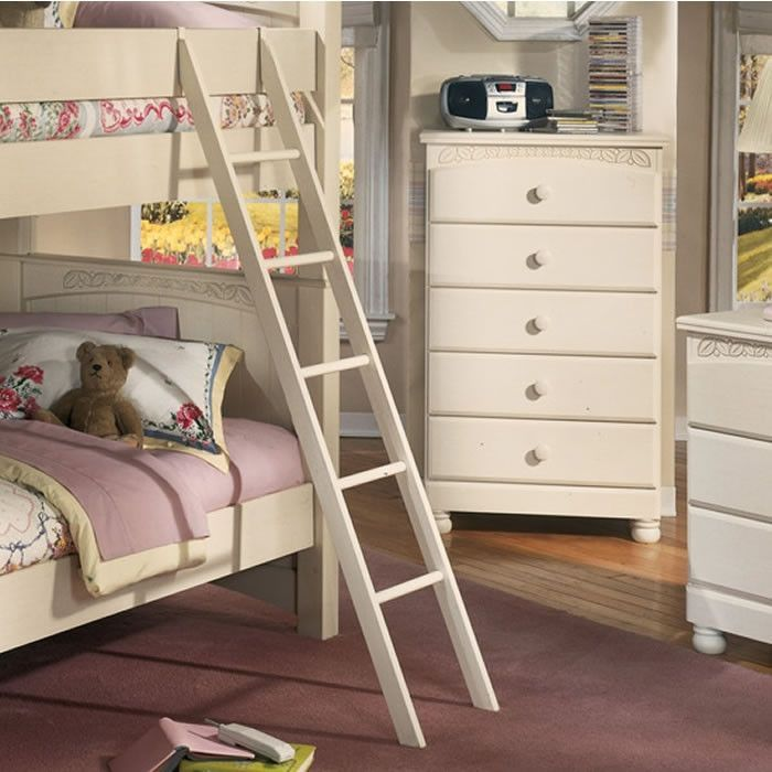 Ashley Furniture B213 008 Cottage Retreat Bunk Bed Ladder Cream
