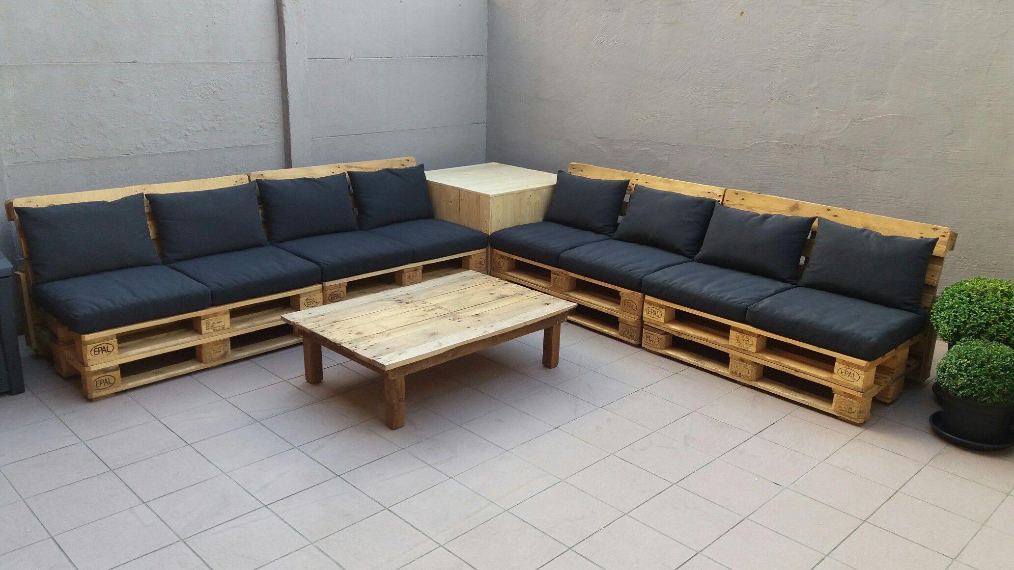 Lounge Set Met Hallo Ikea Kussens Pallet Furniture Pallet