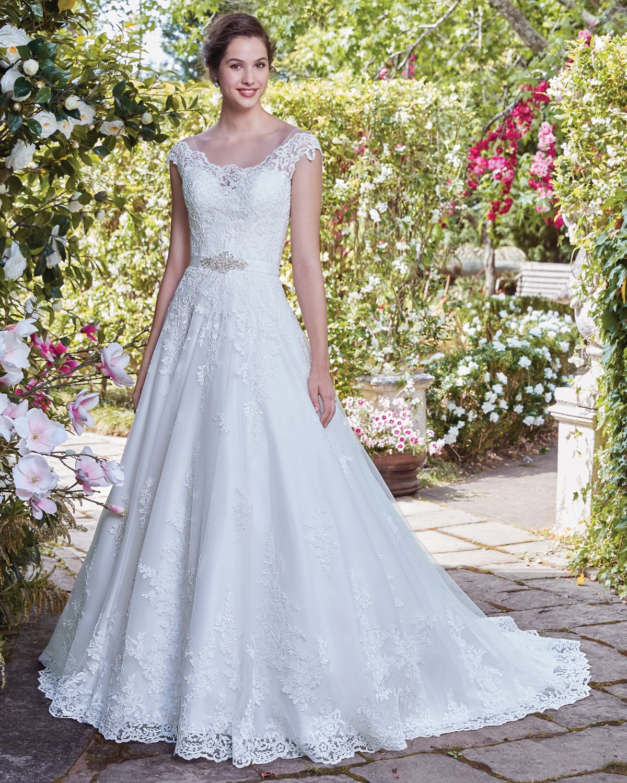 Vestido de novia de rebecca ingram kaitlyn corte princesa escote