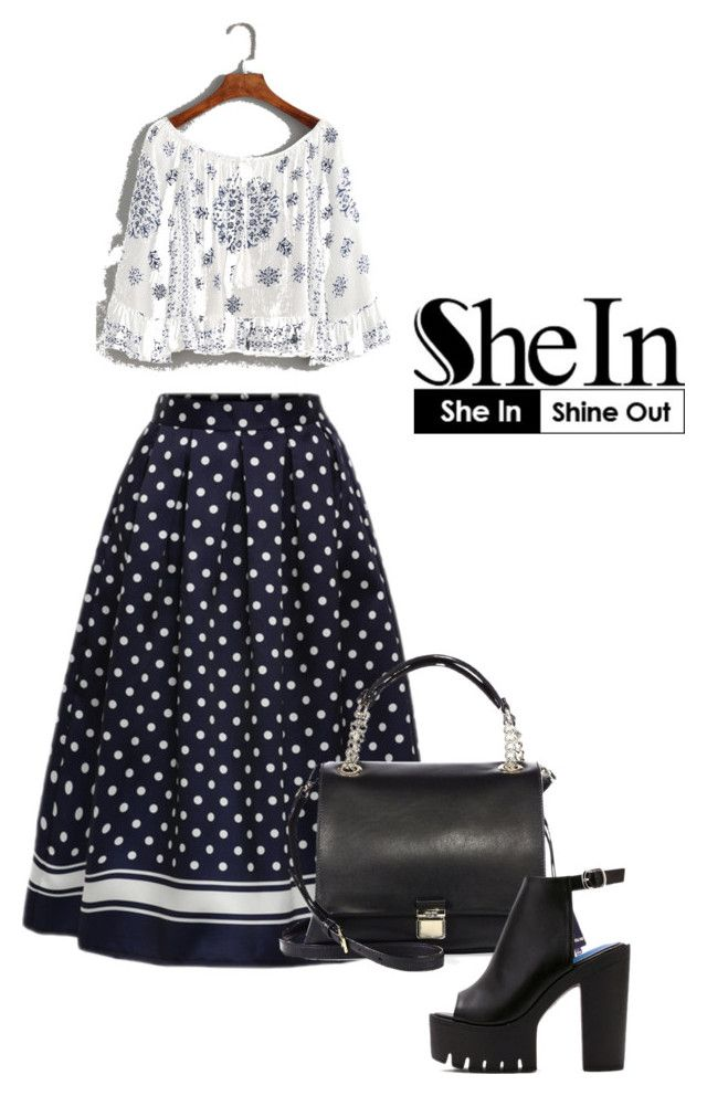 """Shein"" by venecuela ❤ liked on Polyvore featuring Miu Miu and WithChic"