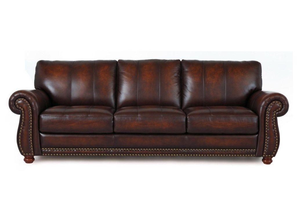 Futura Leather Futura Leather 7530 Traditional Leather Sofa With