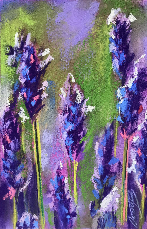 Original Pastel Painting by Lyubov Rasic,