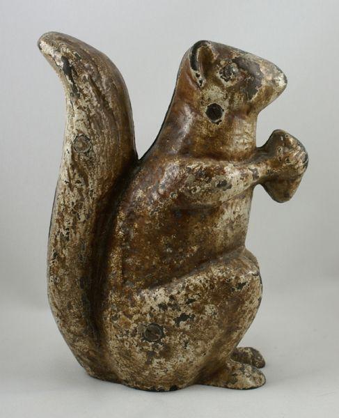 Squirrel w/ Nut Door Stop Antique cast iron doorstop. - Squirrel W/ Nut Door Stop Antique Cast Iron Doorstop. Antique Misc