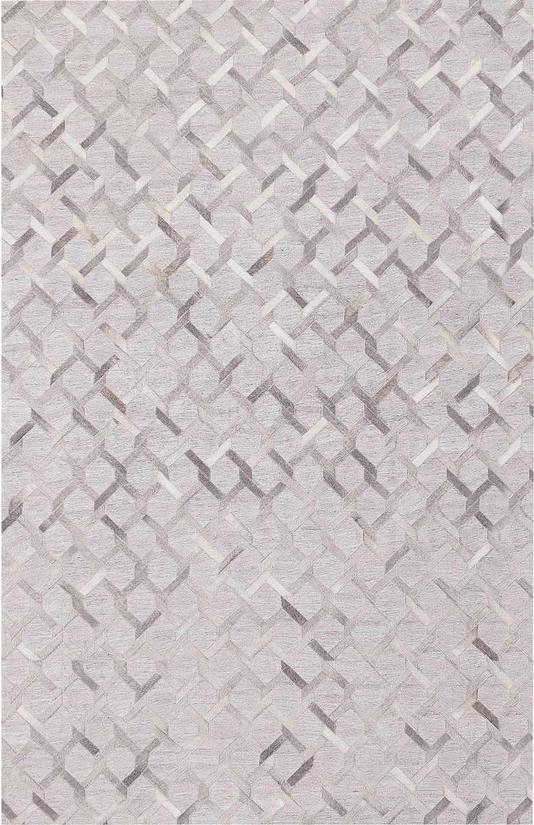 This Modern Jaunty Alps Al 06 Silver Area Rug In A Chain Link Fence Design Is Hand Crafted In India Using A Unique Combinat Rugs Hide Rug Area Rug Collections