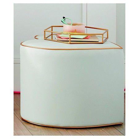 Groovy Oh Joy Heart Ottoman Grey Gold Target Design Home Inzonedesignstudio Interior Chair Design Inzonedesignstudiocom
