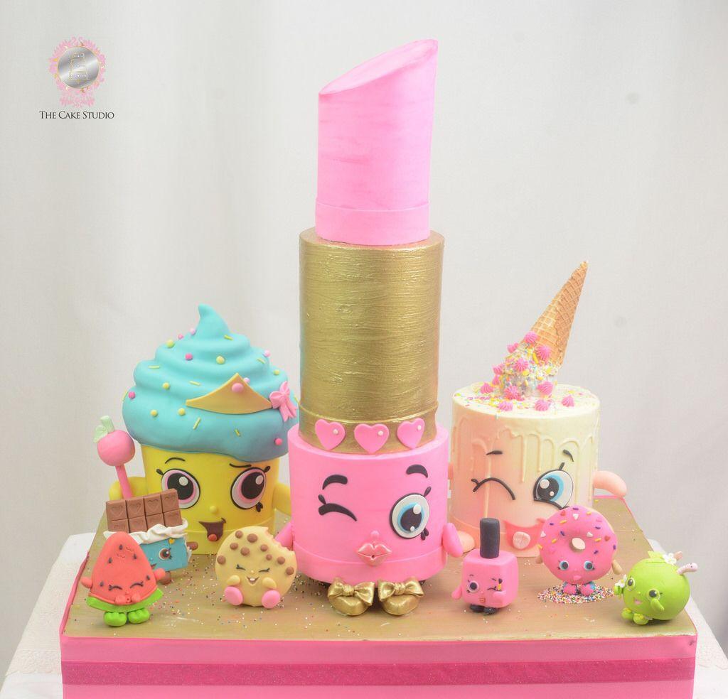 Lipstick Cake: Shopkins Cake #shopkinscake