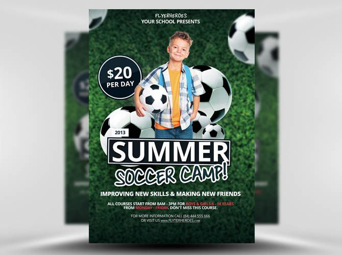 Soccer Camp 1 Flyer Templates Pinterest Flyer Template Mockup