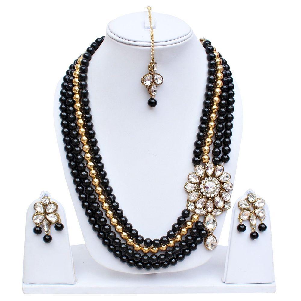 Beautiful Bollywood Wedding Wear Designer Stone Pearl Jewelry ...