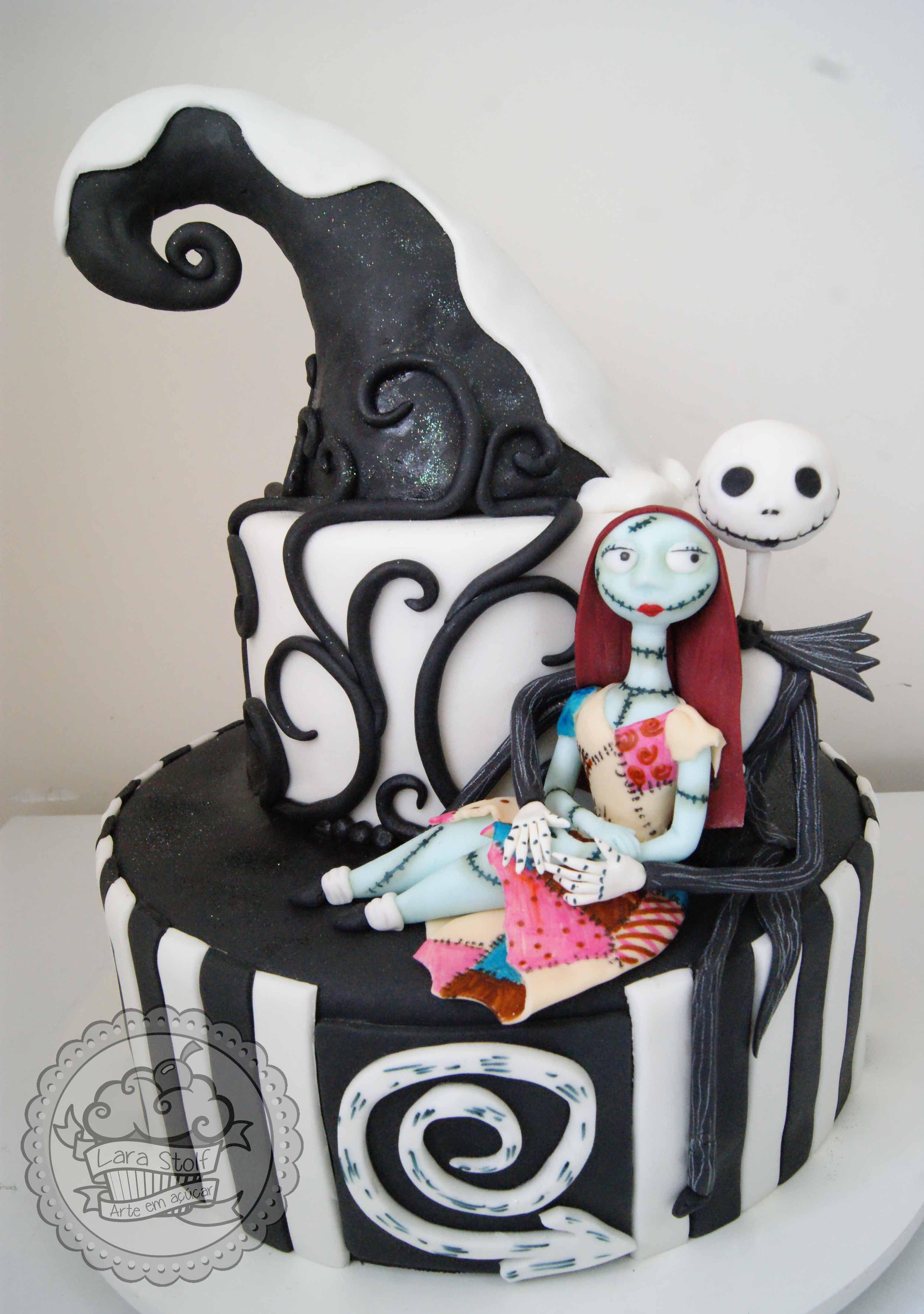 Nightmare Before Christmas Cake Bolo O Estranho Mundo De Jack Tim