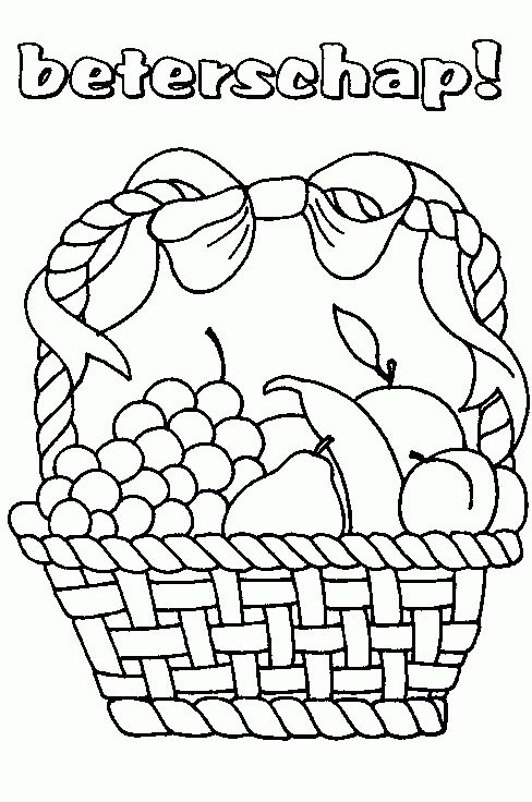 fruitmand kleuters kleurplaten verjaardag geboorte