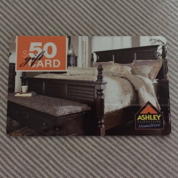 50 Gift Card We Don T At Ashley S Furniture Never Used The