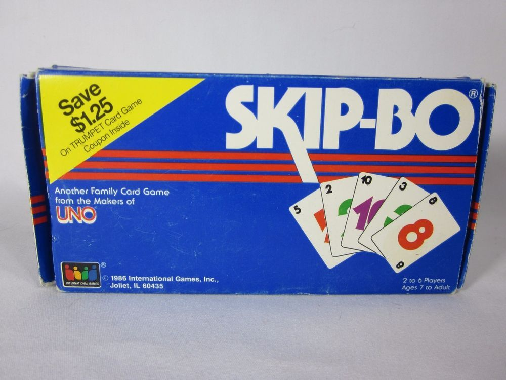 Vintage 1986 Skip Bo Card Game Complete With Instructions All 162