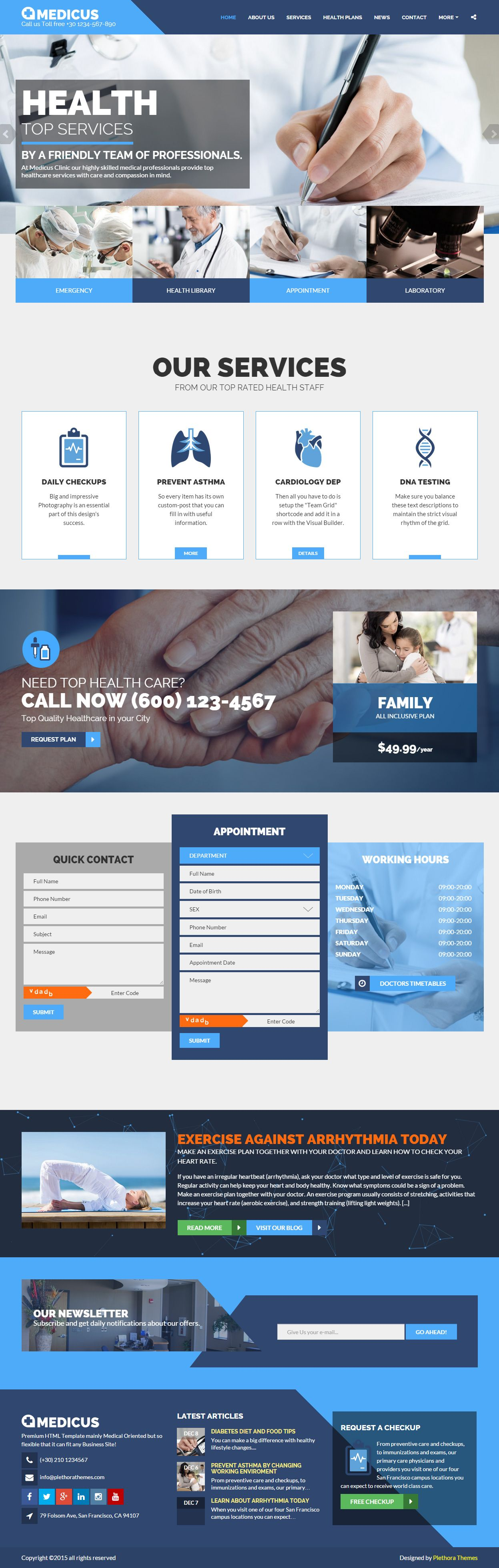 Medicus Premium Responsive Medical Html5 Template Mise En Page Web Mise En Page Flyer