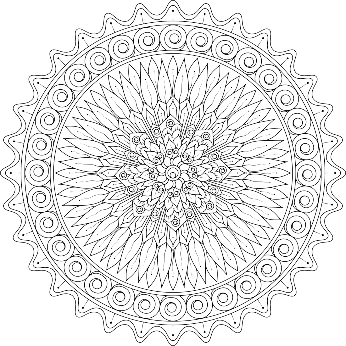 Kindled love mandala coloring page by varda k for Love mandala coloring pages