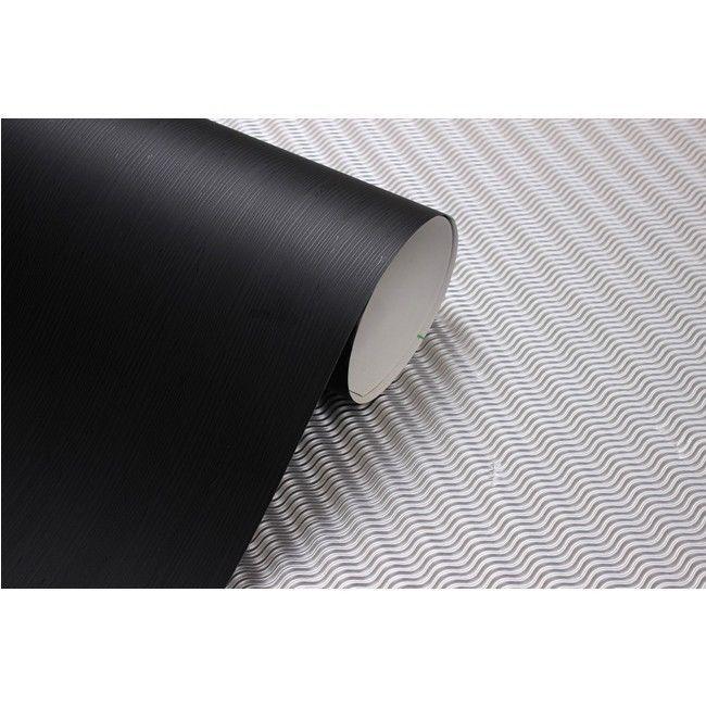 2m Black Wood Effect Vinyl Self Adhesive Peel Stick Wallpaper No 908