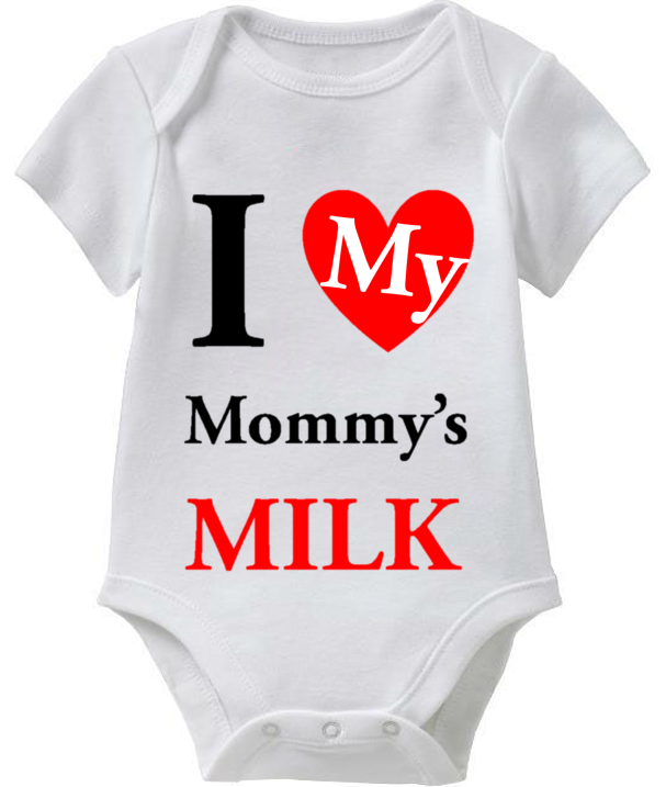 I Love My Mommy's Milk (Mom's Milk Baby Onesie Collection) Coming Soon! -> May 1st 2014 @ http://SmartBabyTees.com