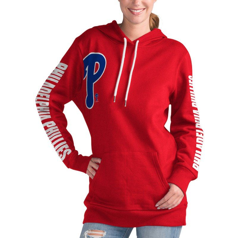 d8c442c41 Philadelphia Phillies G-III 4Her by Carl Banks Women s 12th Inning Pullover  Hoodie – Red
