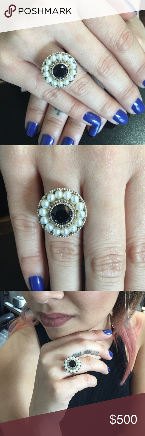 84c23ac96ca7a Tiffany's Onyx/Pearl ring (Ziegfeld Collection) Sterling silver with ...