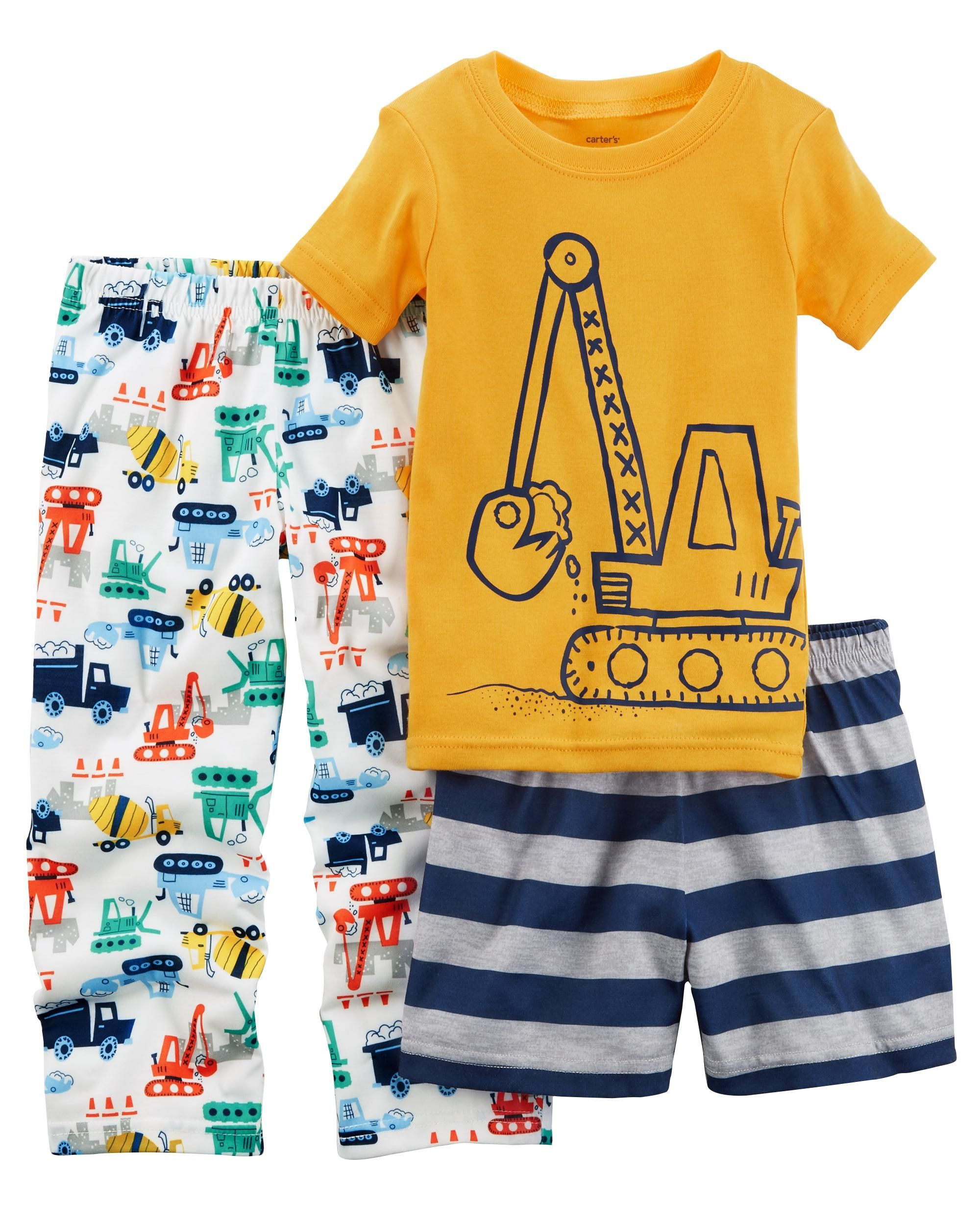 05240cf6c 3-Piece Construction Jersey PJs