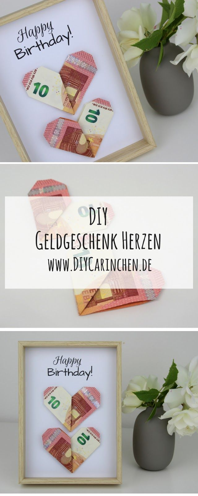 diy geldgeschenk herzen nach origami art die perfekte. Black Bedroom Furniture Sets. Home Design Ideas