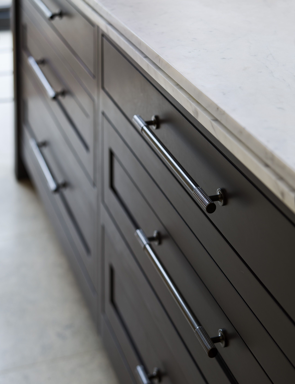 Dark Kitchen Cupboards With Silver Handles Marble Worktop Kitchen Cupboards Kitchen Cupboard Handles Kitchen Handles