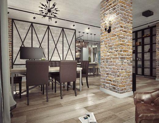 кухня гостиная в стиле лофт гостиная идеи для дома Interior