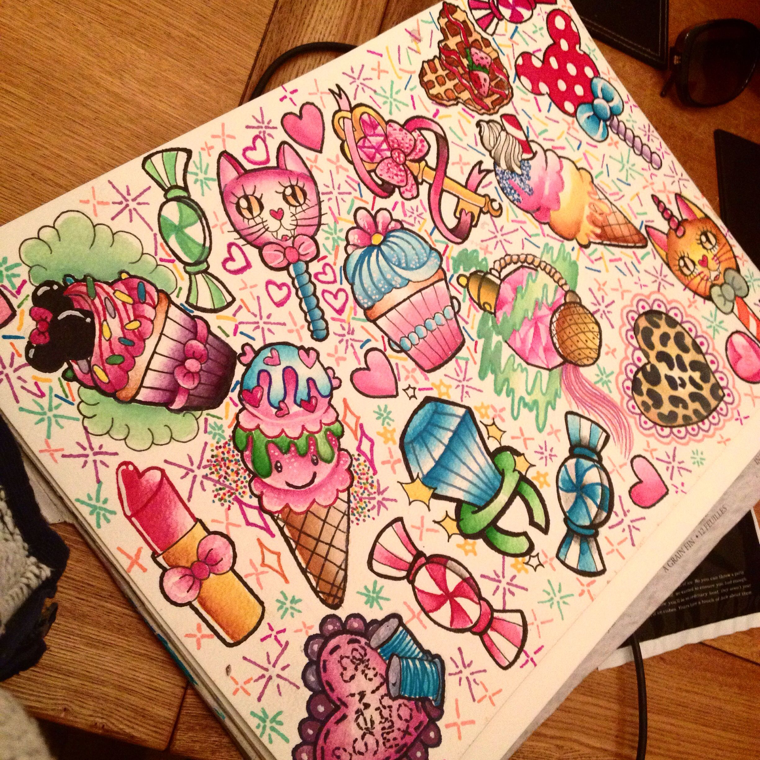 Girly tattoo flash! a3 prints available  Tattoos for