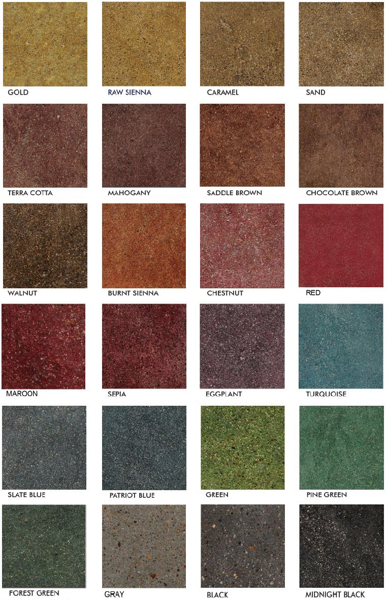 Stained Polished Concrete Color Chart Glossy Floors Stained Concrete Countertops Concrete Color Concrete Stained Floors