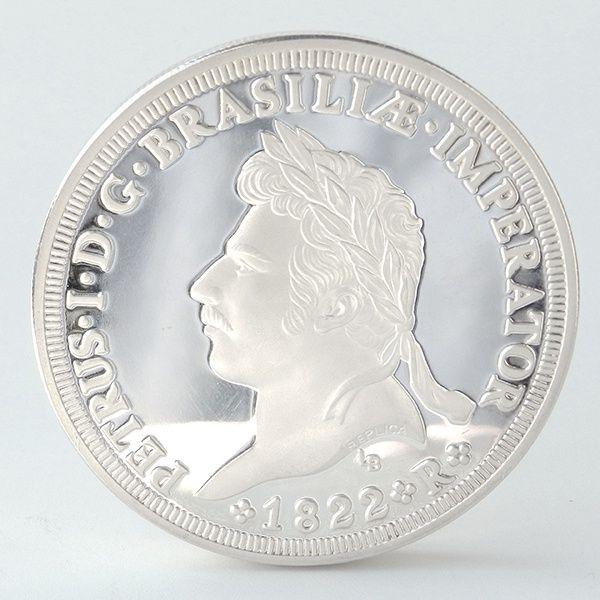 Medalha de prata comemorativa do bicentenário do nascimento de D. Pedro I. 1998. Ag.999 5Oz. Cerca d