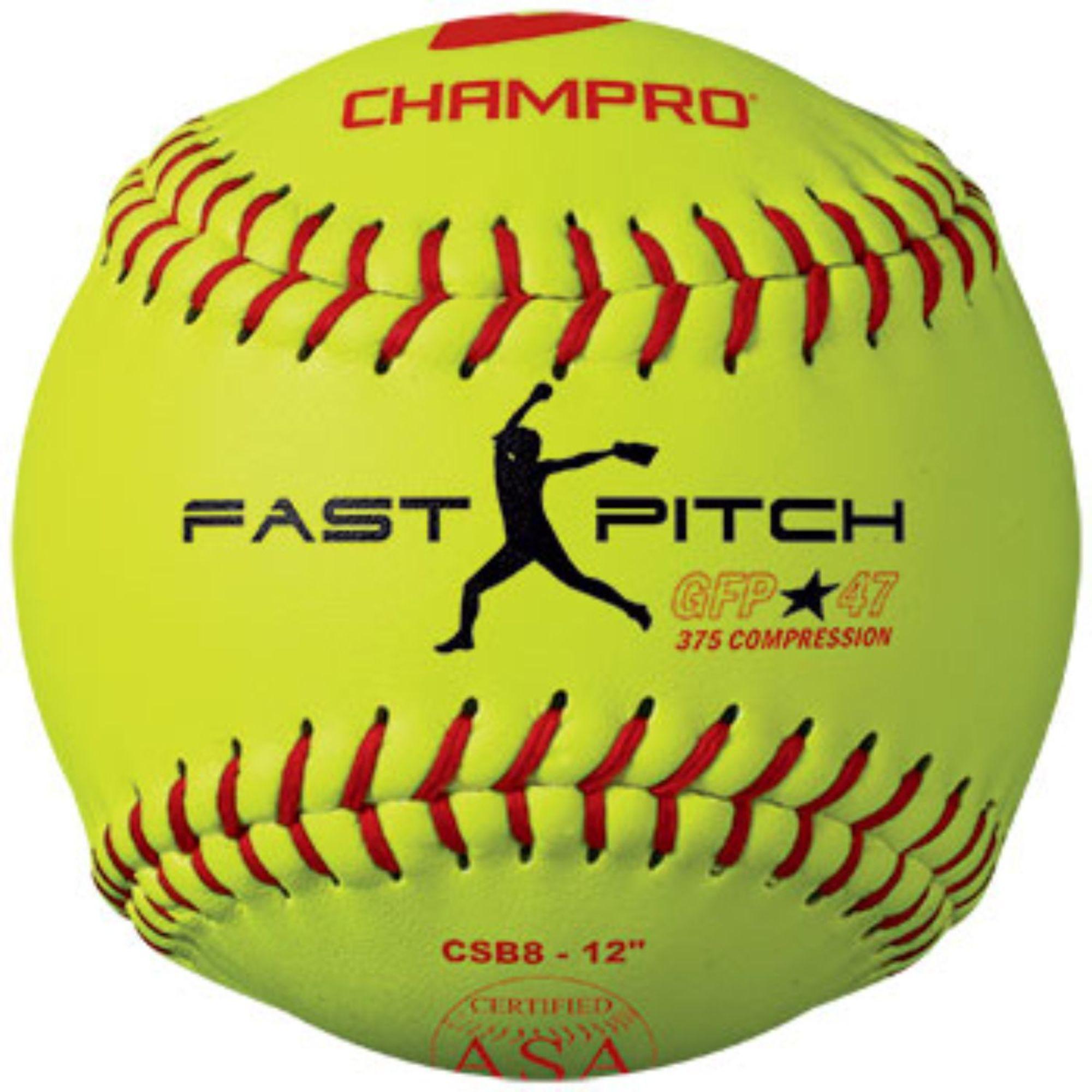 Set Of 12 Optic Yellow Fast Pitch Softball 47 Cor Slow Pitch Softball Fastpitch Softball Slow Pitch