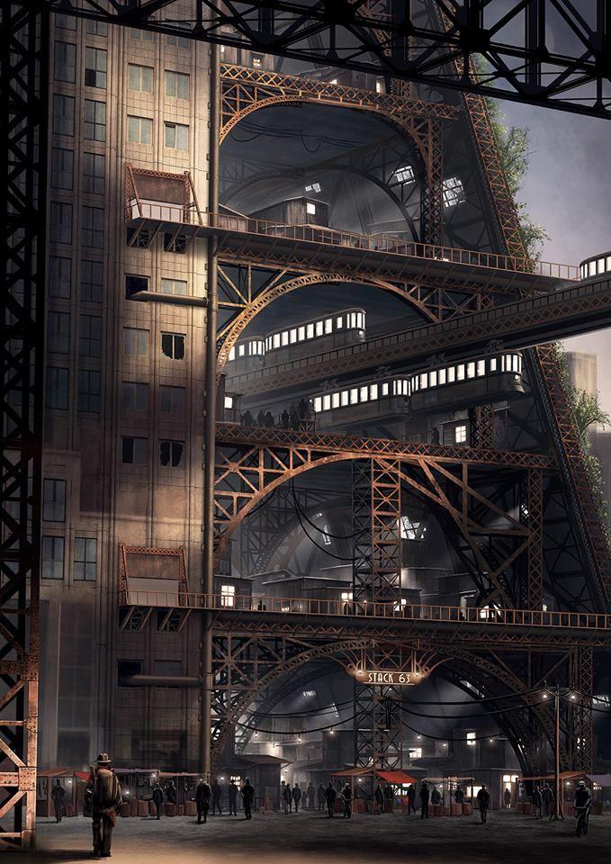 Steampunk Tendencies | Concept art by Alex Jessup #Digitalart #Industrial #Steampunk