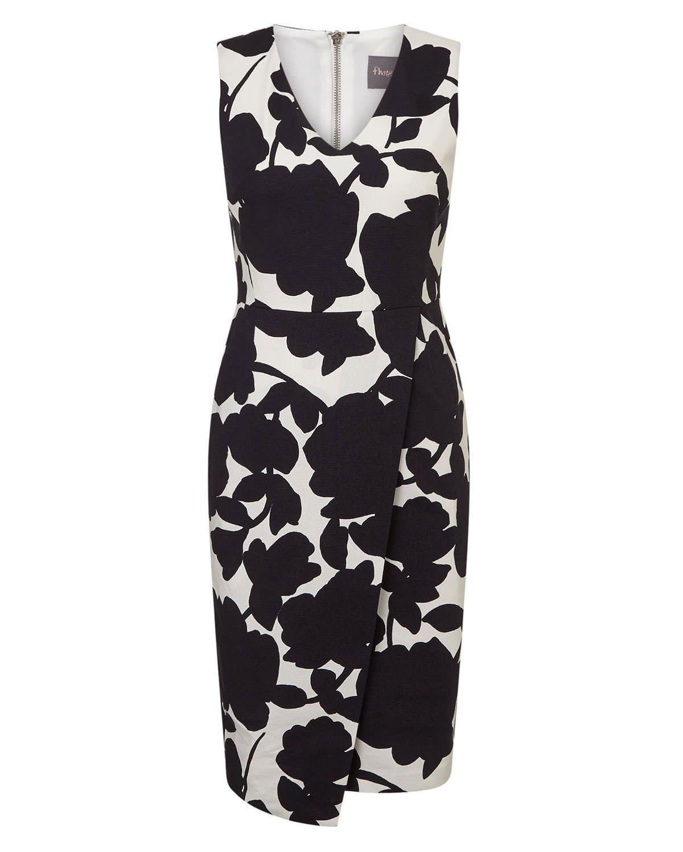 Phase Eight Fleur Print Dress Black | Fashion