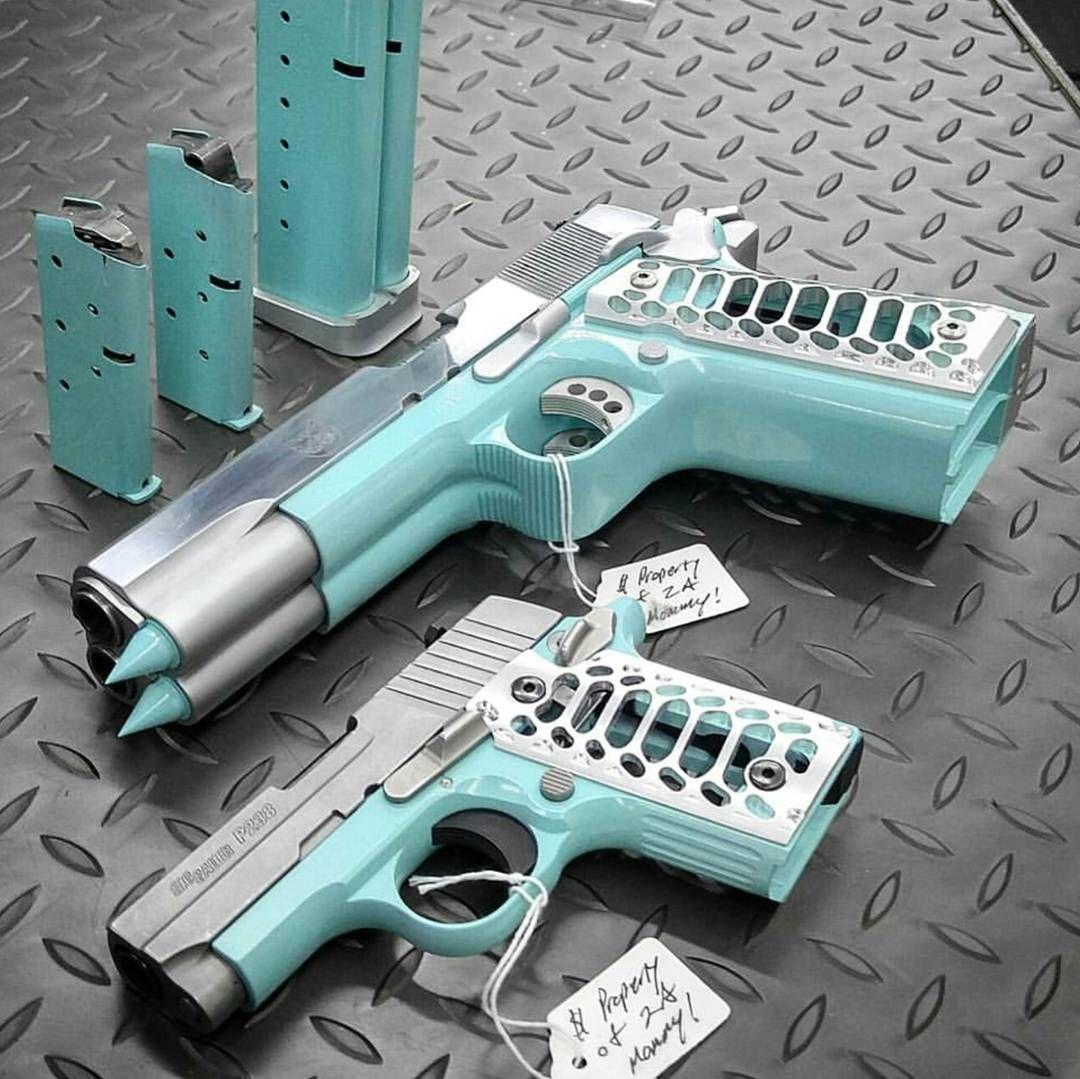 tiffany blue pistol - HD1080×1079