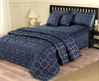 Navy Blue Super King Duvet Quilt Cover